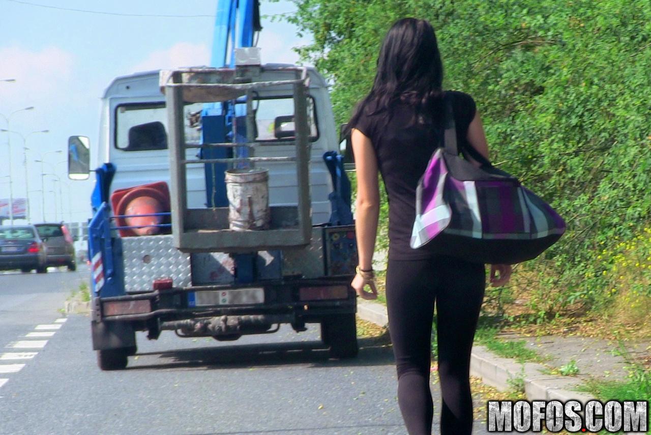 Русскую девушку на улице 20 фотография