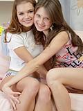 Stunning lesbians having fun together