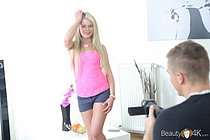 Fresh blonde beauty fucked by a thick dick