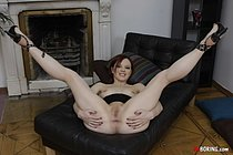 Filthy redhead babe loves having her hole nicely drilled by her hardcore lover