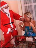 Teen bangs Santa