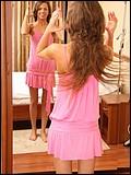 Brunette teen lets us see