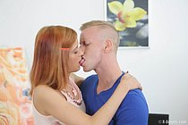 Adorable redhead gets her lovely pussy humped