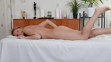 Stunning hottie enjoys our massage