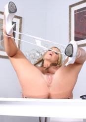 Christine Vinson plays sexy secretary!
