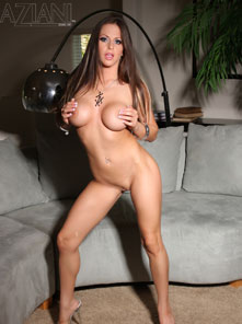 Rachel Roxxx gets naughty and strip out of her silver mini-dress!