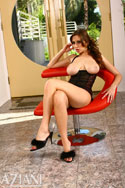 Busty hottie Shay Laren is back and today she brought her fuzzy slippers. Not much else though but we think you don´t mind. Oh there´s that skimpy little black dress she wears when she goes out but that comes off soon too.