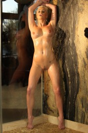 Shower and oil time with the sexy Goddess Spencer Scott.