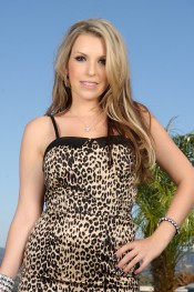 Busty blonde, Courtney Cummz, is frisky, fun and flirtatious in her leopard print dress and even sexier out of it revealing her big tits and smoking hot body!