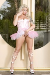 Sultry and Seductive Brooke Haven in her pink corset and tutu.  Dancing and prancing around as she removes it all for you to see her completely naked!