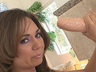 Holly West Slams Her Twat On Big Rubber Dong